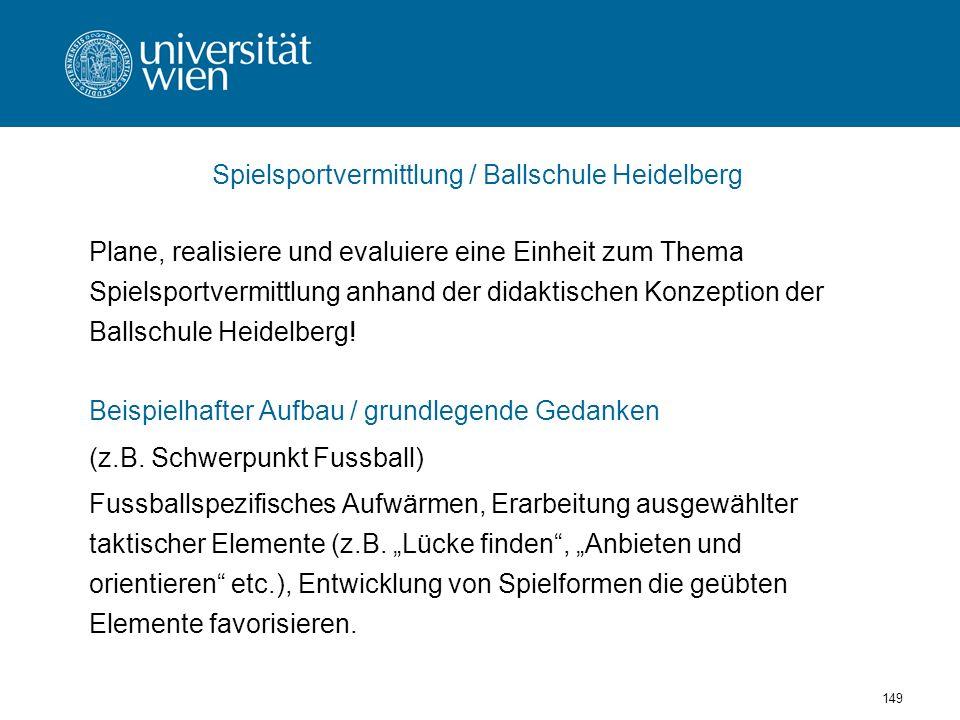 Spielsportvermittlung / Ballschule Heidelberg