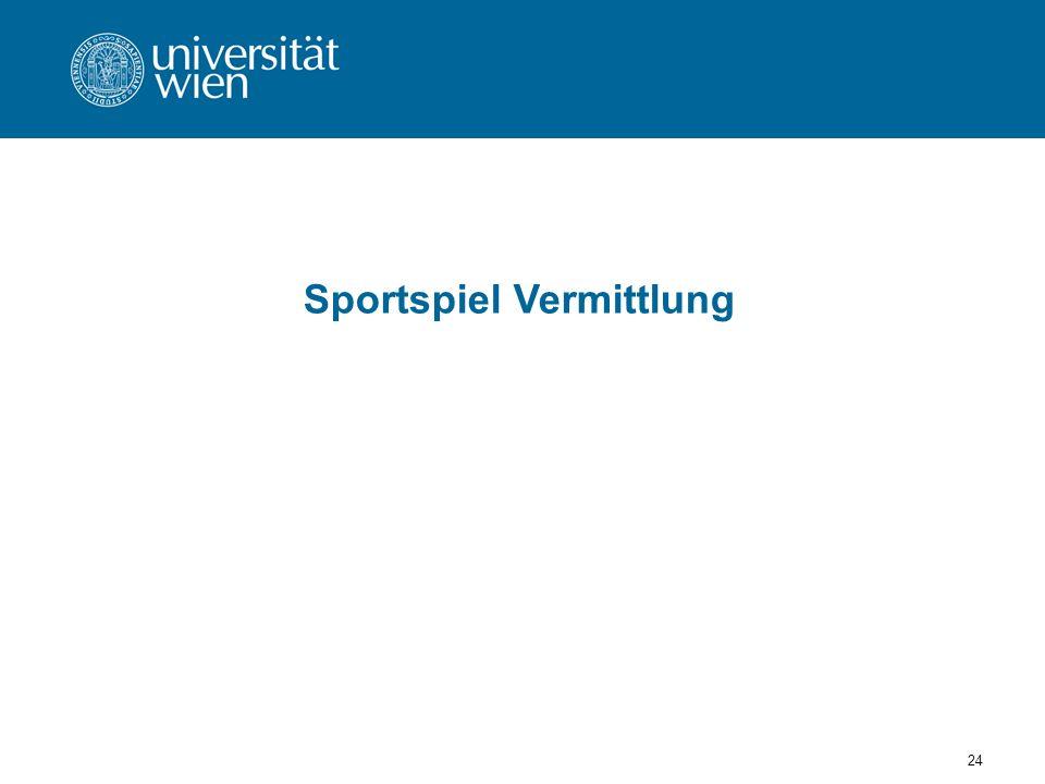 Sportspiel Vermittlung