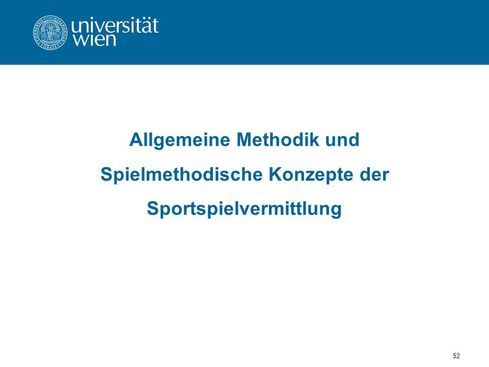 Allgemeine Methodik und