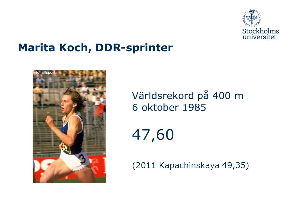 Marita Koch, DDR-sprinter