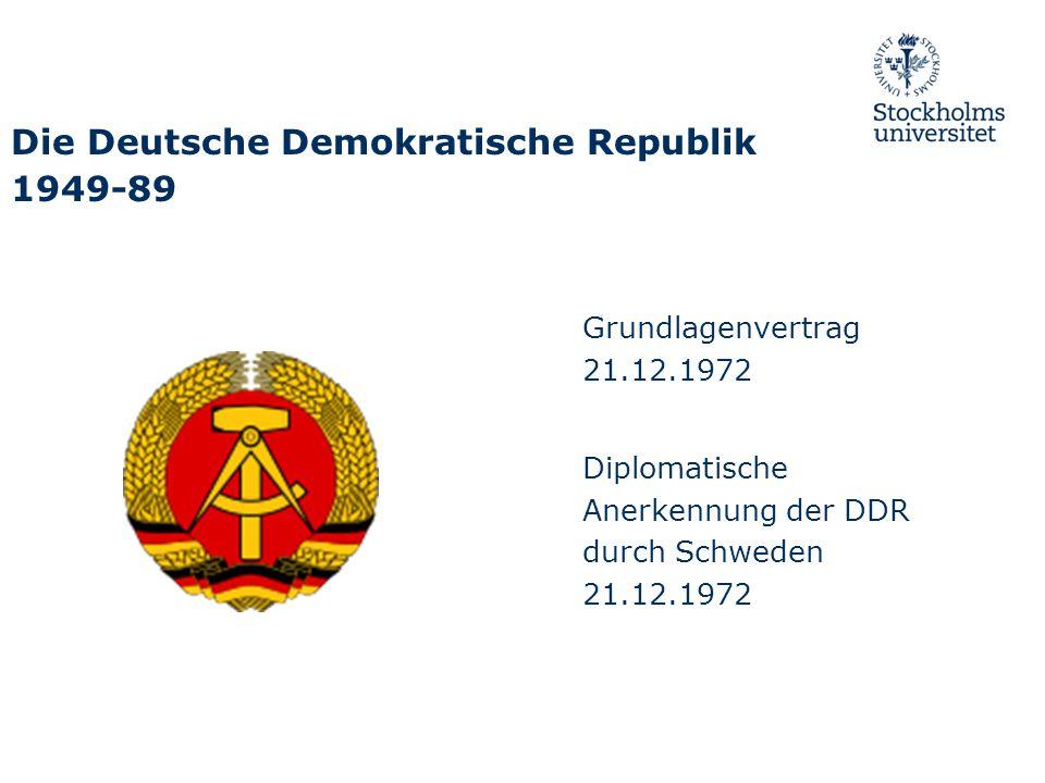 Die Deutsche Demokratische Republik 1949-89