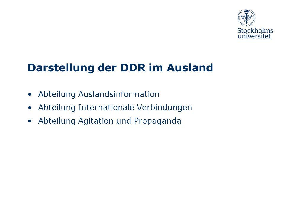 Darstellung der DDR im Ausland