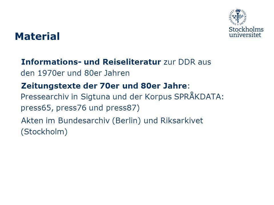 Material Informations- und Reiseliteratur zur DDR aus den 1970er und 80er Jahren.