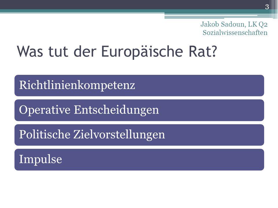 Was tut der Europäische Rat
