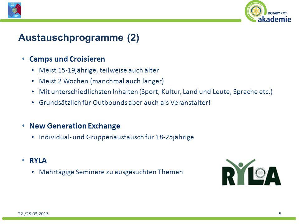 Austauschprogramme (2)