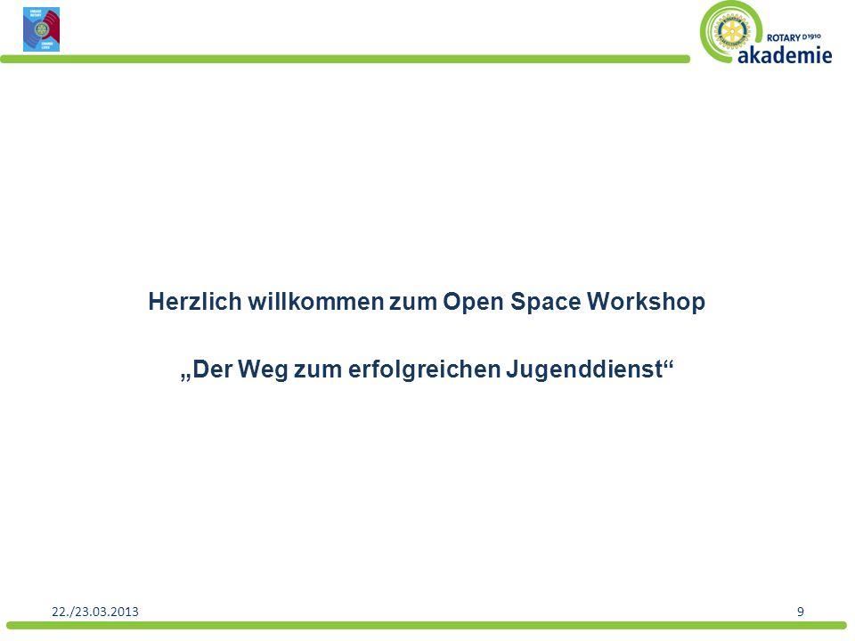 """Herzlich willkommen zum Open Space Workshop """"Der Weg zum erfolgreichen Jugenddienst"""