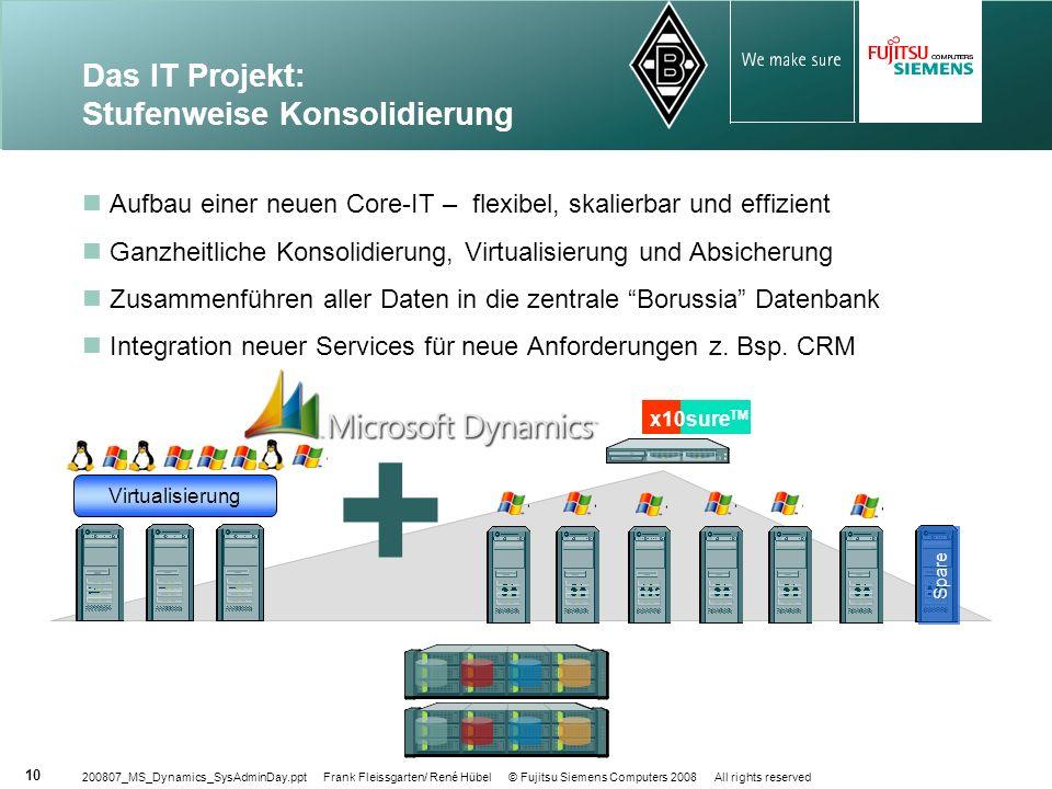 Das IT Projekt: Stufenweise Konsolidierung