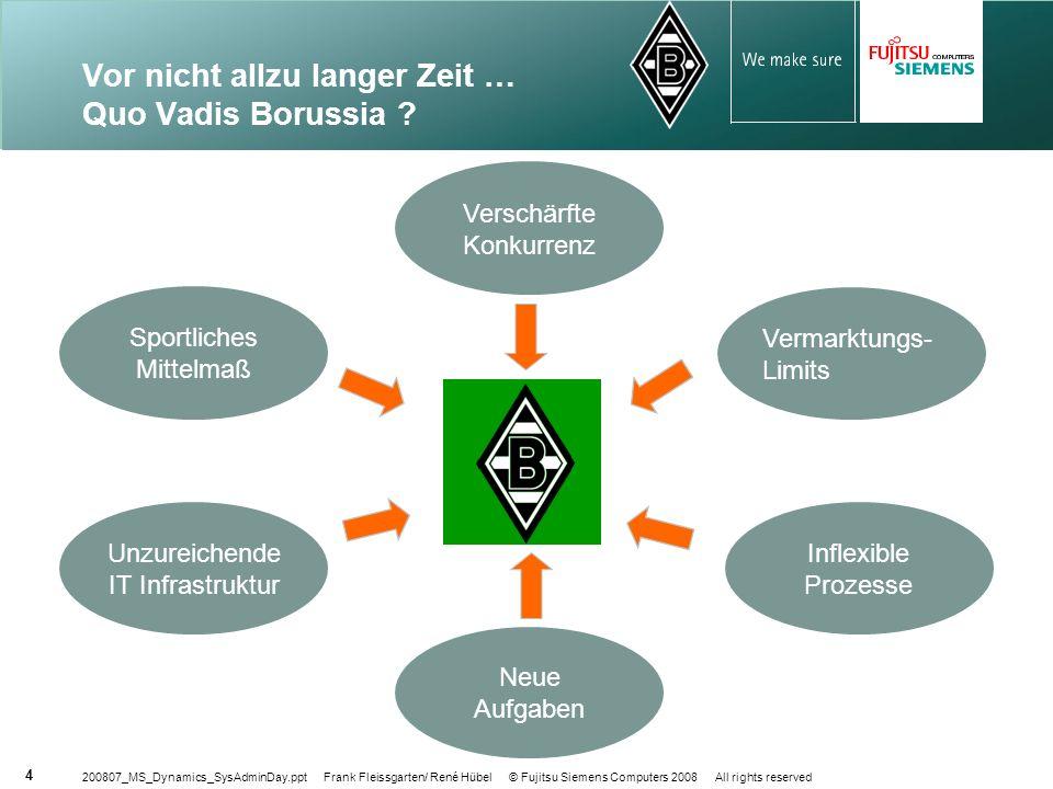 Vor nicht allzu langer Zeit … Quo Vadis Borussia
