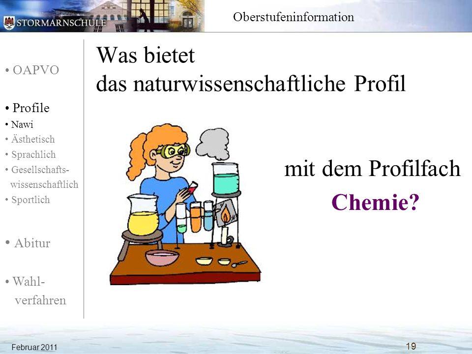 Was bietet das naturwissenschaftliche Profil