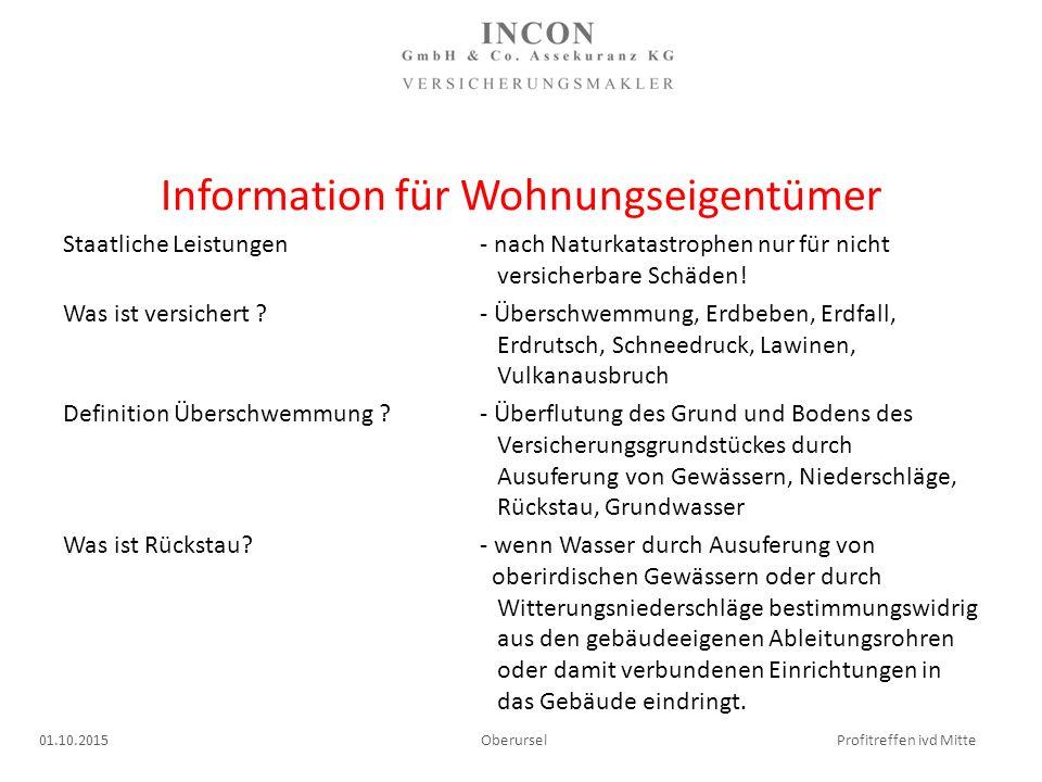 Information für Wohnungseigentümer