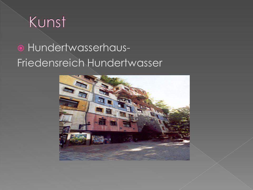 Kunst Hundertwasserhaus- Friedensreich Hundertwasser