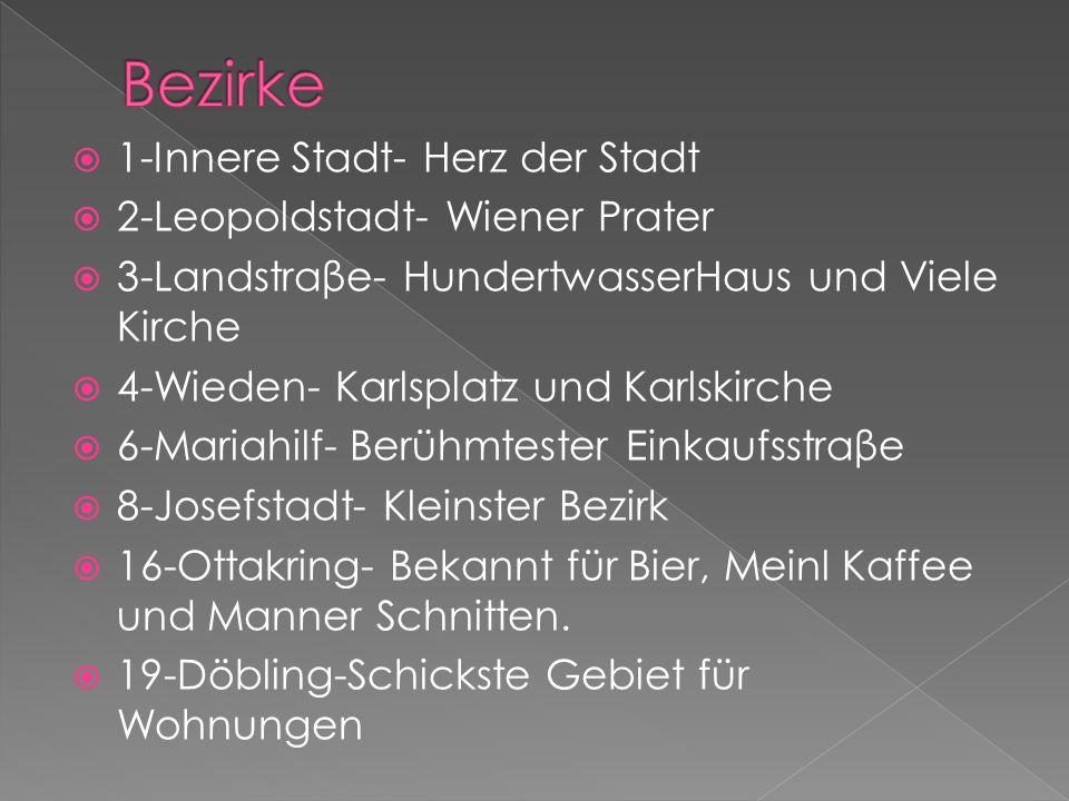 Bezirke 1-Innere Stadt- Herz der Stadt 2-Leopoldstadt- Wiener Prater