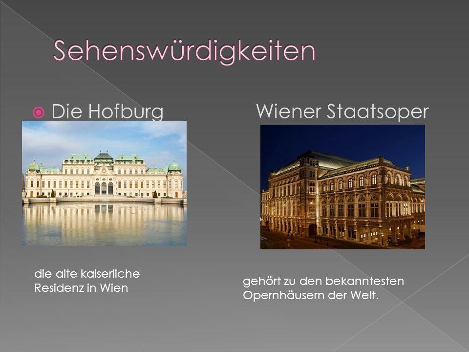 Sehenswürdigkeiten Die Hofburg Wiener Staatsoper
