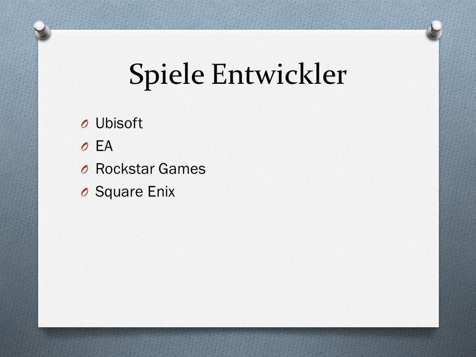Spiele Entwickler Ubisoft EA Rockstar Games Square Enix