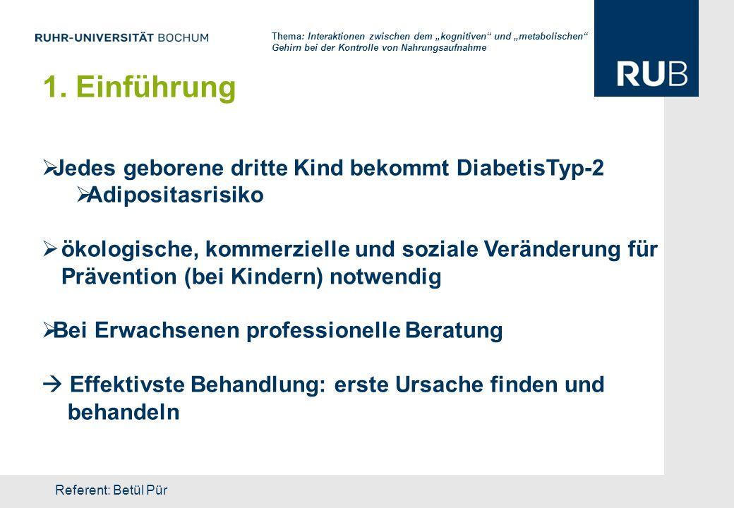 1. Einführung Jedes geborene dritte Kind bekommt DiabetisTyp-2