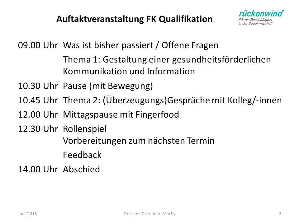 Auftaktveranstaltung FK Qualifikation