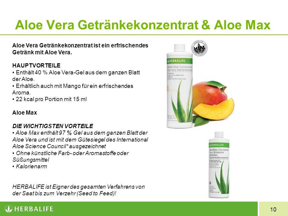 Aloe Vera Getränkekonzentrat & Aloe Max