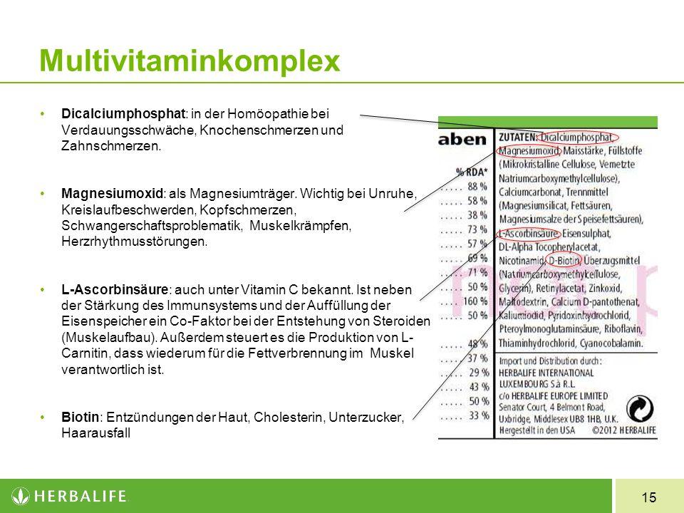 Multivitaminkomplex Dicalciumphosphat: in der Homöopathie bei Verdauungsschwäche, Knochenschmerzen und Zahnschmerzen.