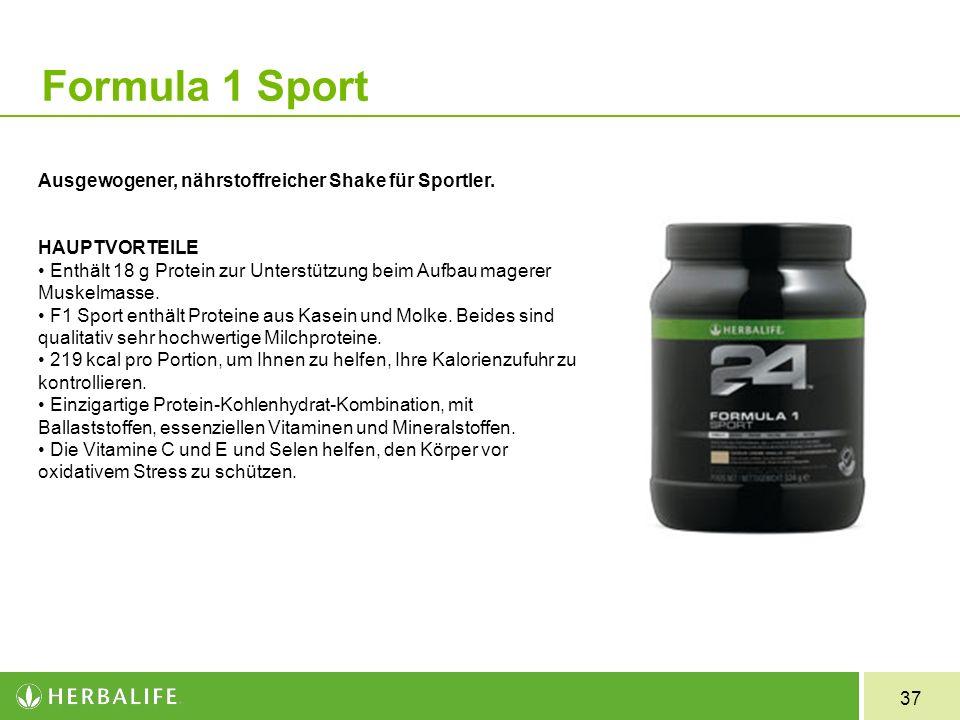 Formula 1 Sport Ausgewogener, nährstoffreicher Shake für Sportler.