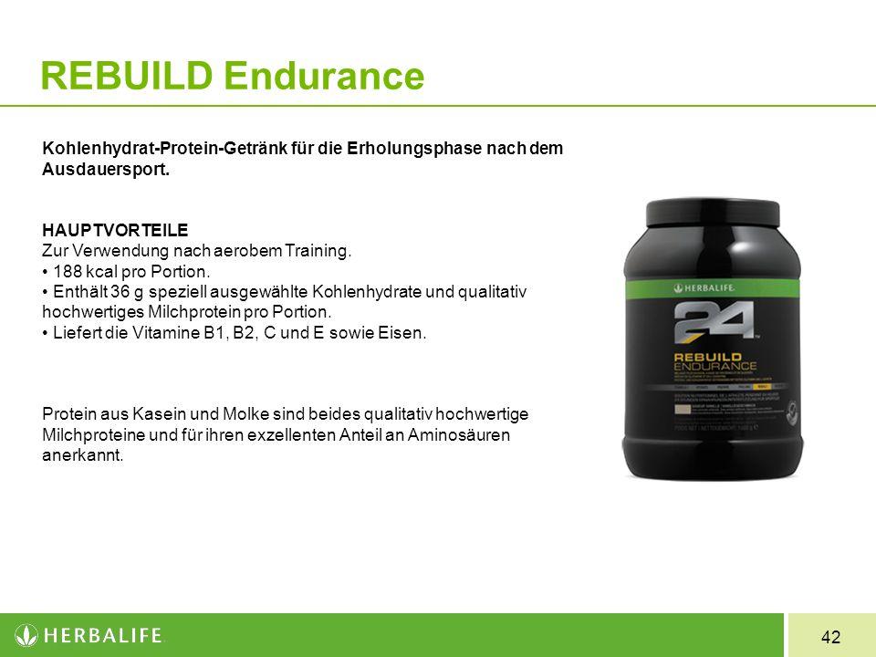 REBUILD Endurance Kohlenhydrat-Protein-Getränk für die Erholungsphase nach dem Ausdauersport. HAUPTVORTEILE.