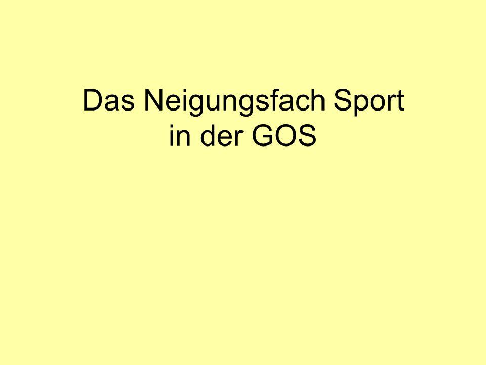 Das Neigungsfach Sport in der GOS