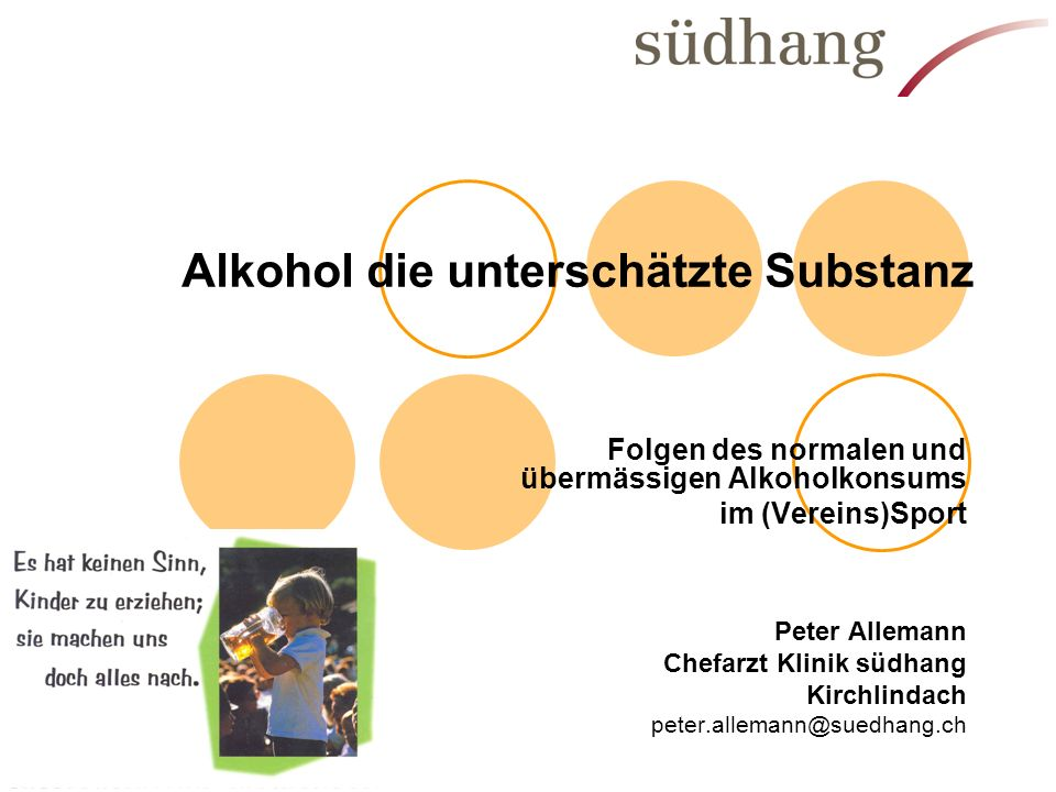 Alkohol die unterschätzte Substanz