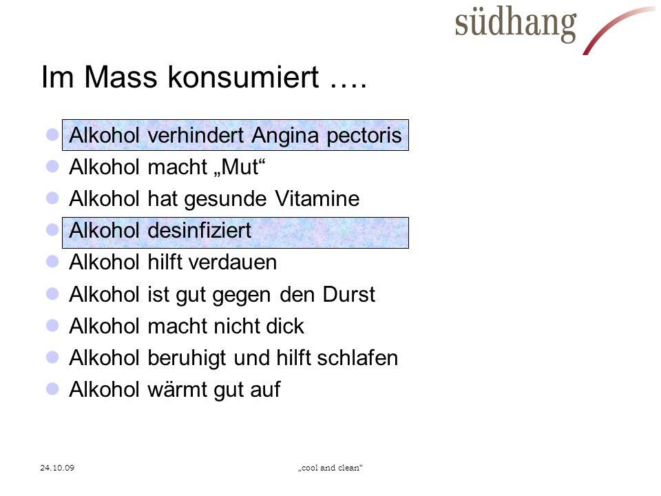 Im Mass konsumiert …. Alkohol verhindert Angina pectoris