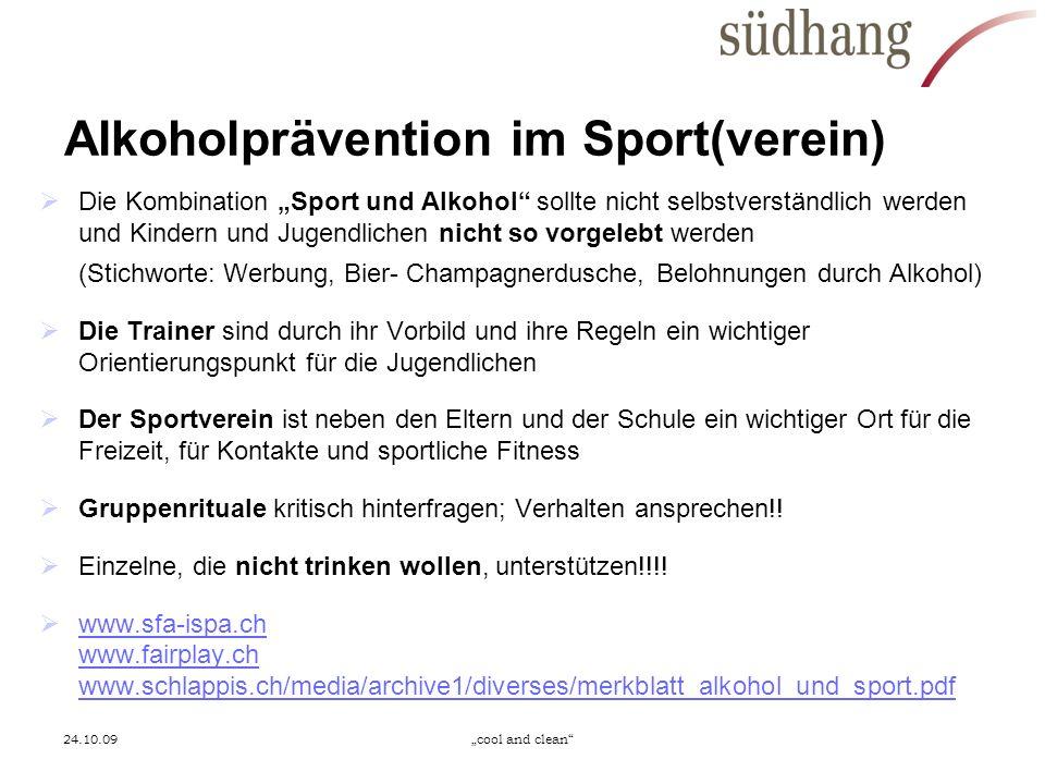 Alkoholprävention im Sport(verein)