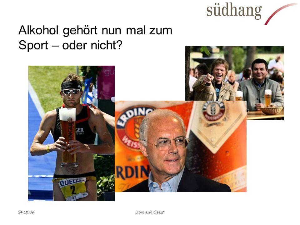 Alkohol gehört nun mal zum Sport – oder nicht