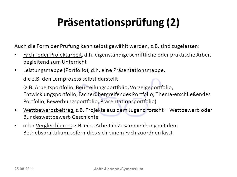 Präsentationsprüfung (2)