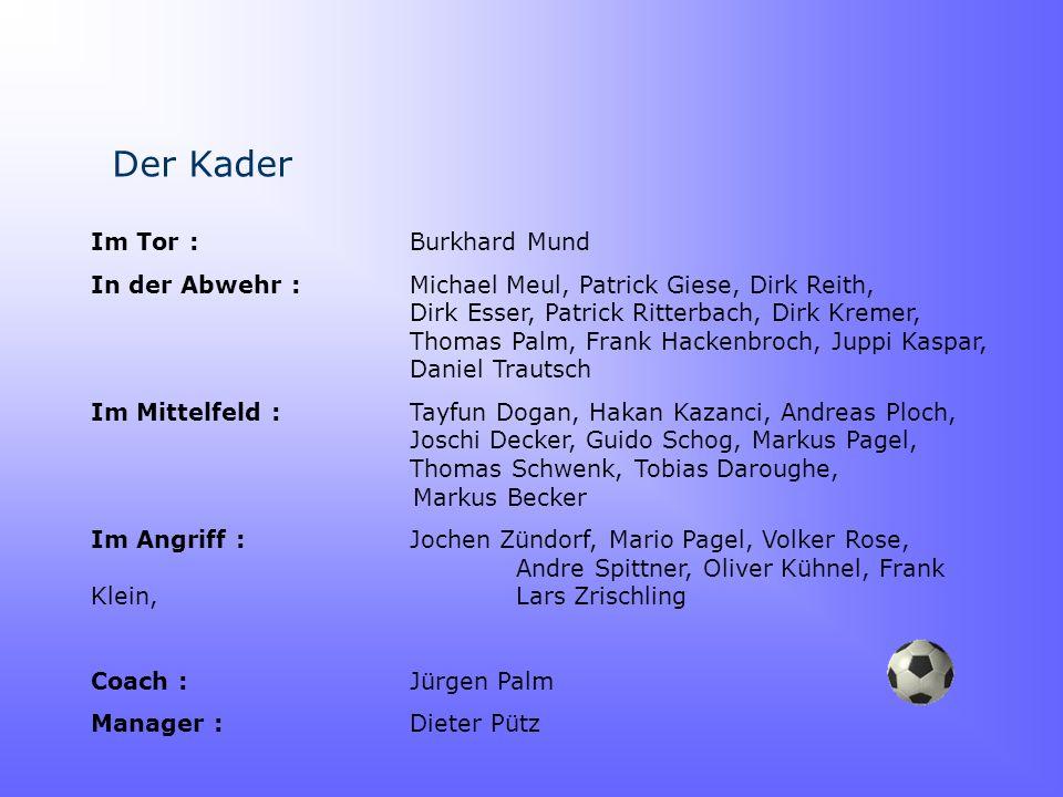 Der Kader Im Tor : Burkhard Mund