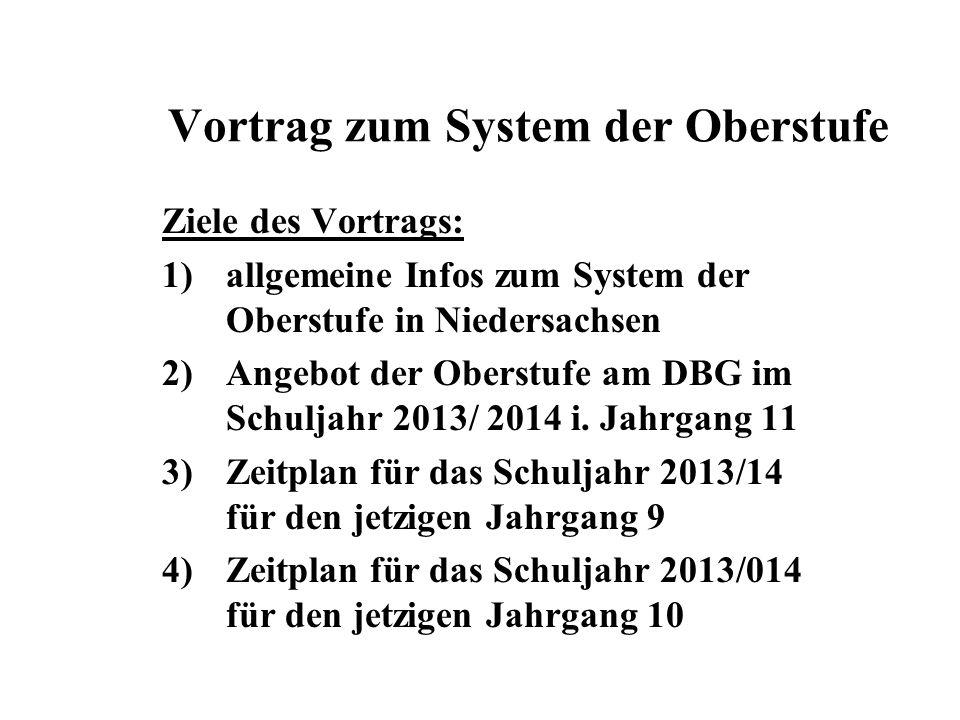 Vortrag zum System der Oberstufe