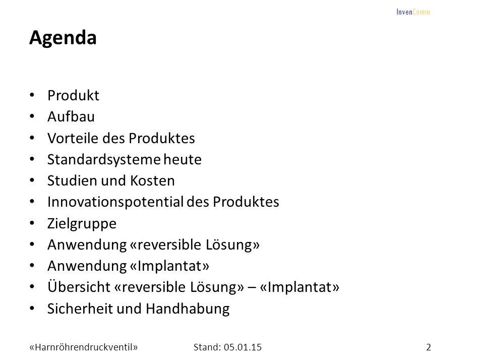 Agenda Produkt Aufbau Vorteile des Produktes Standardsysteme heute