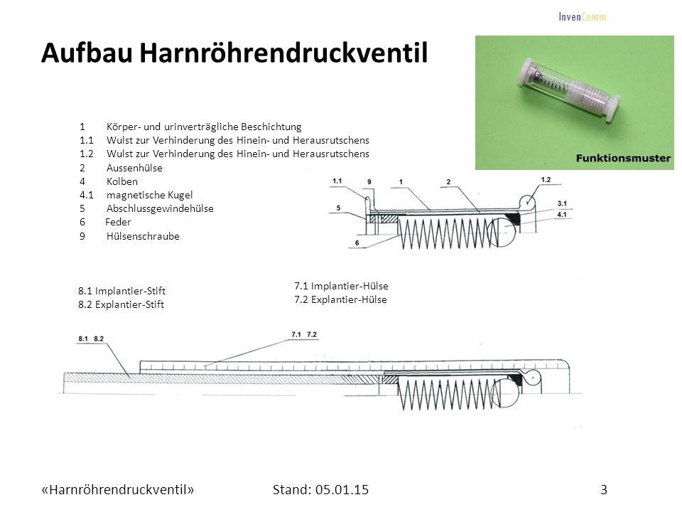 Aufbau Harnröhrendruckventil