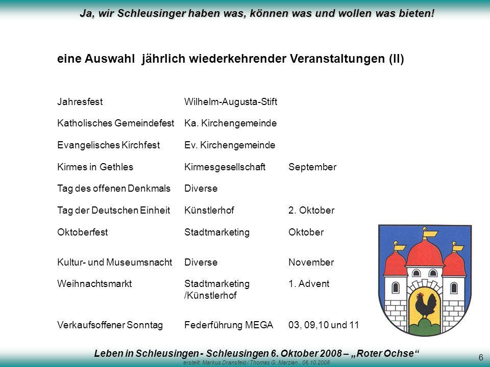 """Leben in Schleusingen - Schleusingen 6. Oktober 2008 – """"Roter Ochse"""