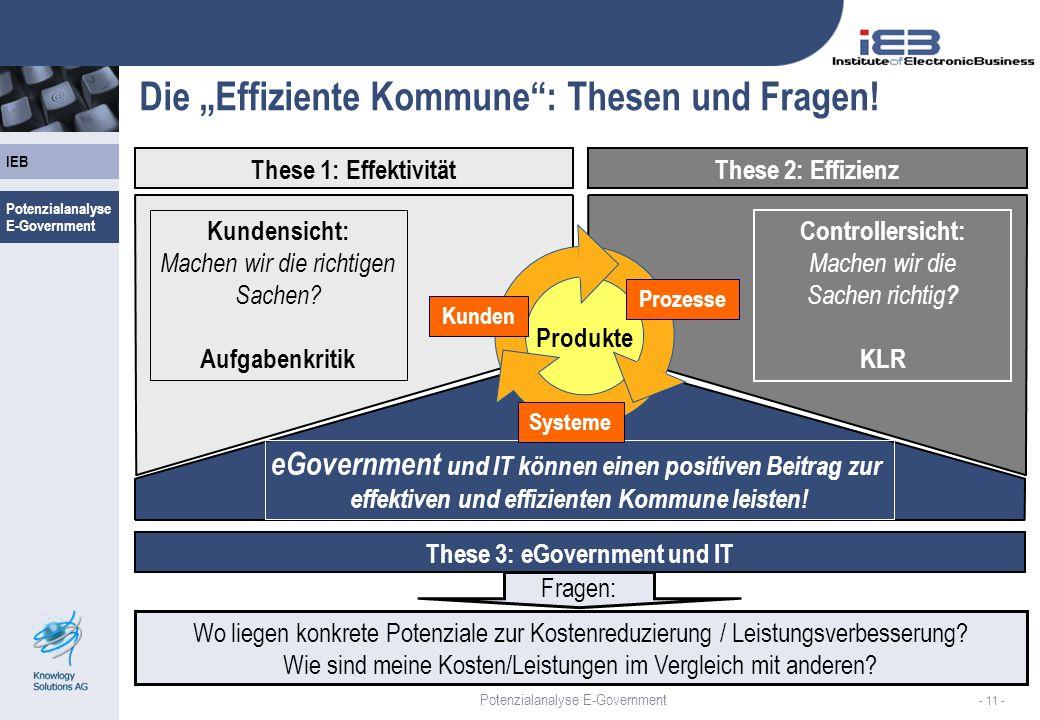 """Die """"Effiziente Kommune : Thesen und Fragen!"""