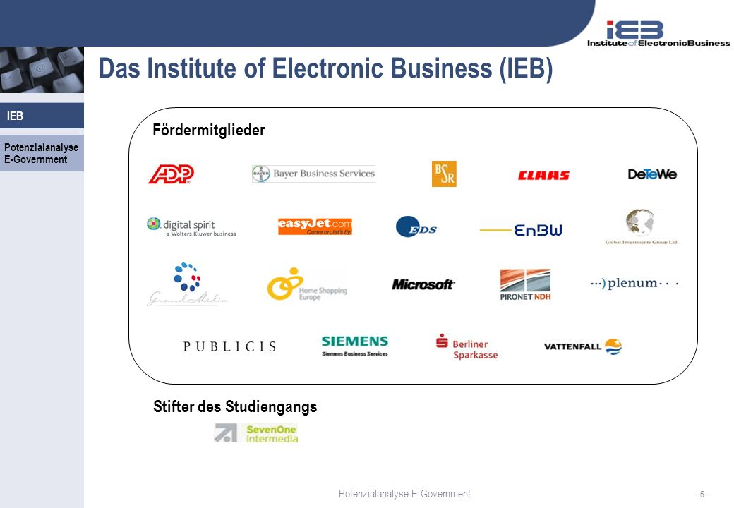 Das Institute of Electronic Business (IEB)