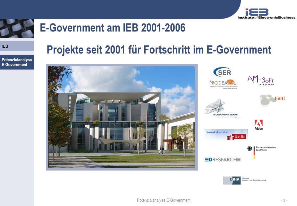 Projekte seit 2001 für Fortschritt im E-Government