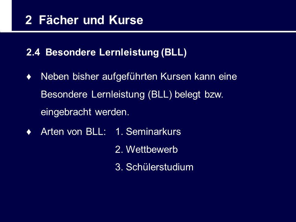 2 Fächer und Kurse 2.4 Besondere Lernleistung (BLL)