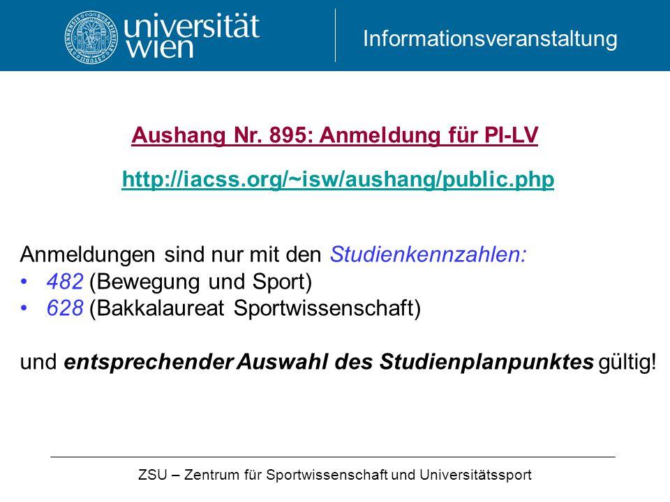 ZSU – Zentrum für Sportwissenschaft und Universitätssport