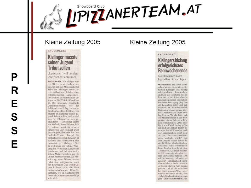 Kleine Zeitung 2005 Kleine Zeitung 2005 PRESSE