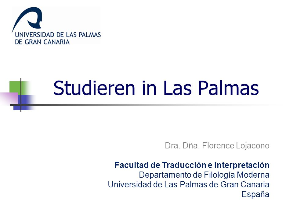 Studieren in Las Palmas