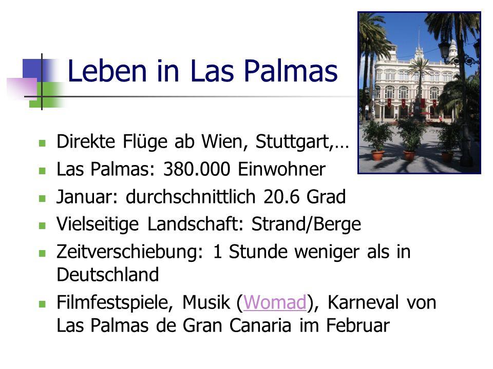 Leben in Las Palmas Direkte Flüge ab Wien, Stuttgart,…