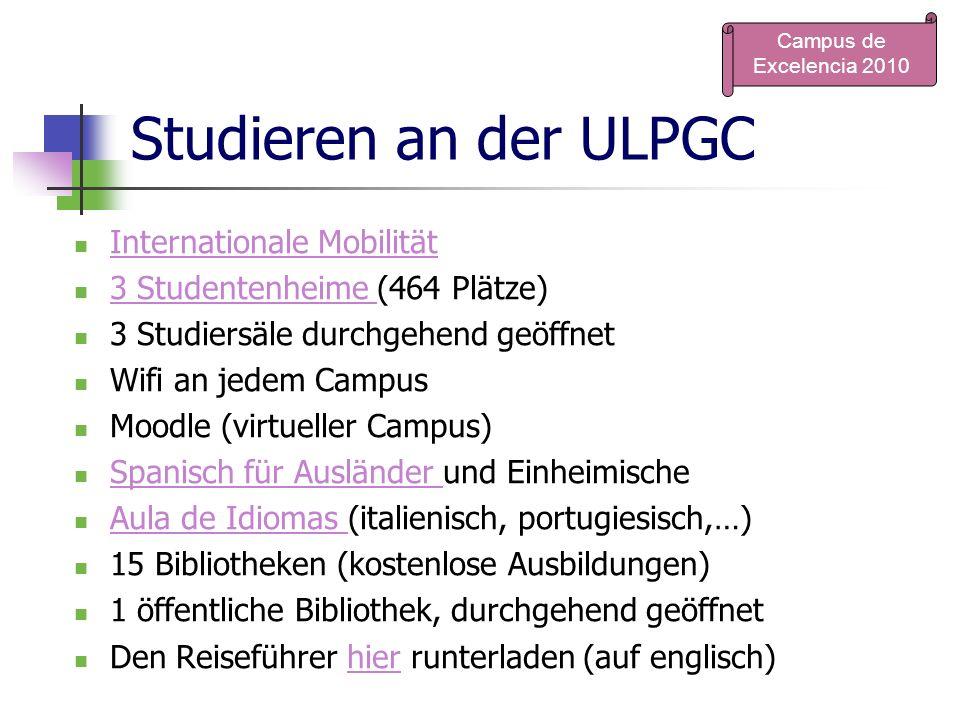 Studieren an der ULPGC Internationale Mobilität