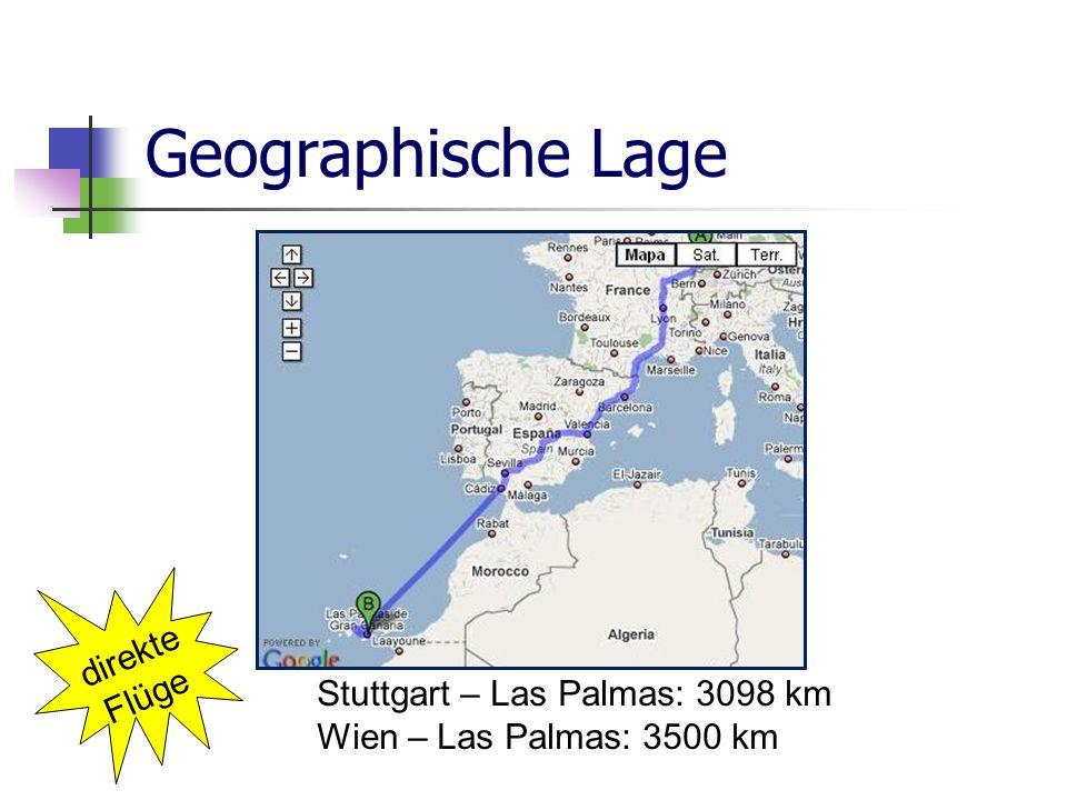 Geographische Lage direkte Flüge