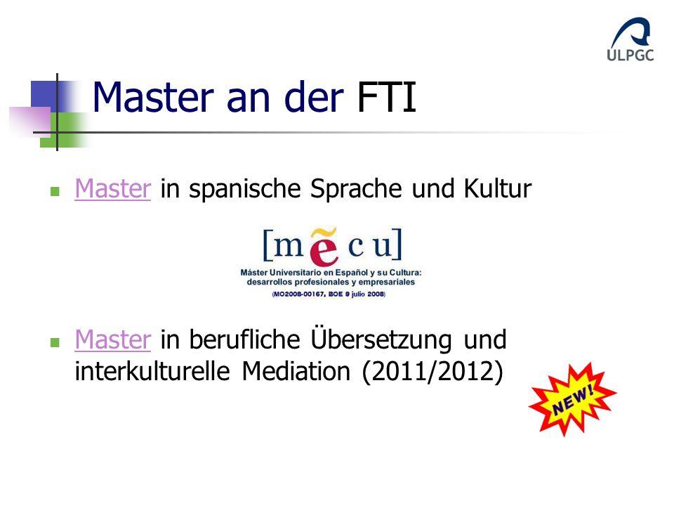 Master an der FTI Master in spanische Sprache und Kultur