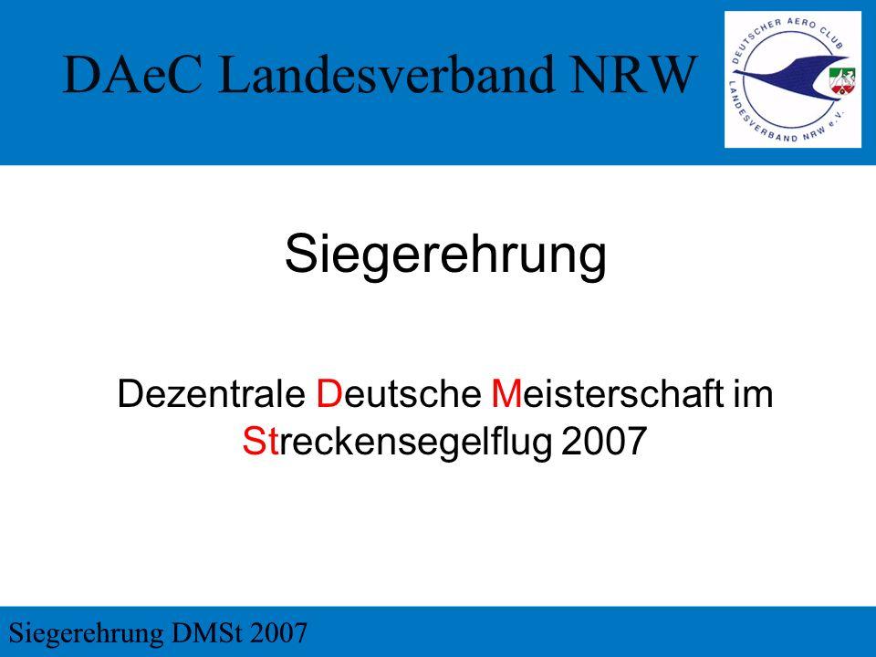 Dezentrale Deutsche Meisterschaft im Streckensegelflug 2007