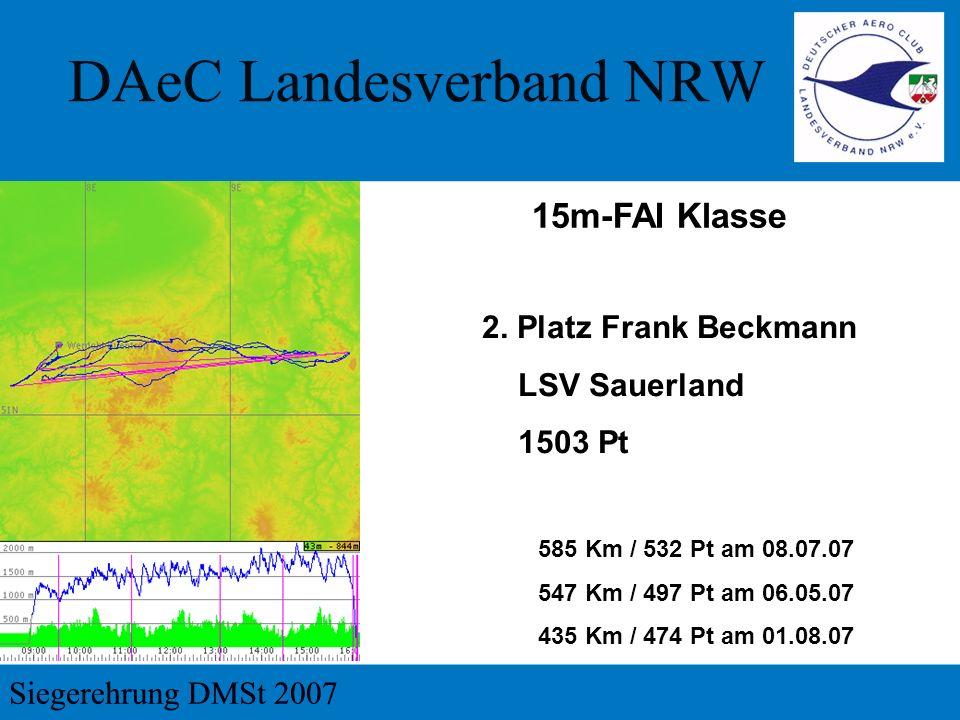 15m-FAI Klasse 2. Platz Frank Beckmann LSV Sauerland 1503 Pt