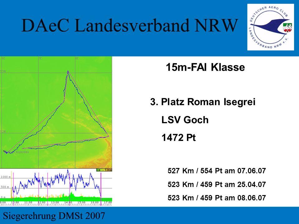 15m-FAI Klasse 3. Platz Roman Isegrei LSV Goch 1472 Pt