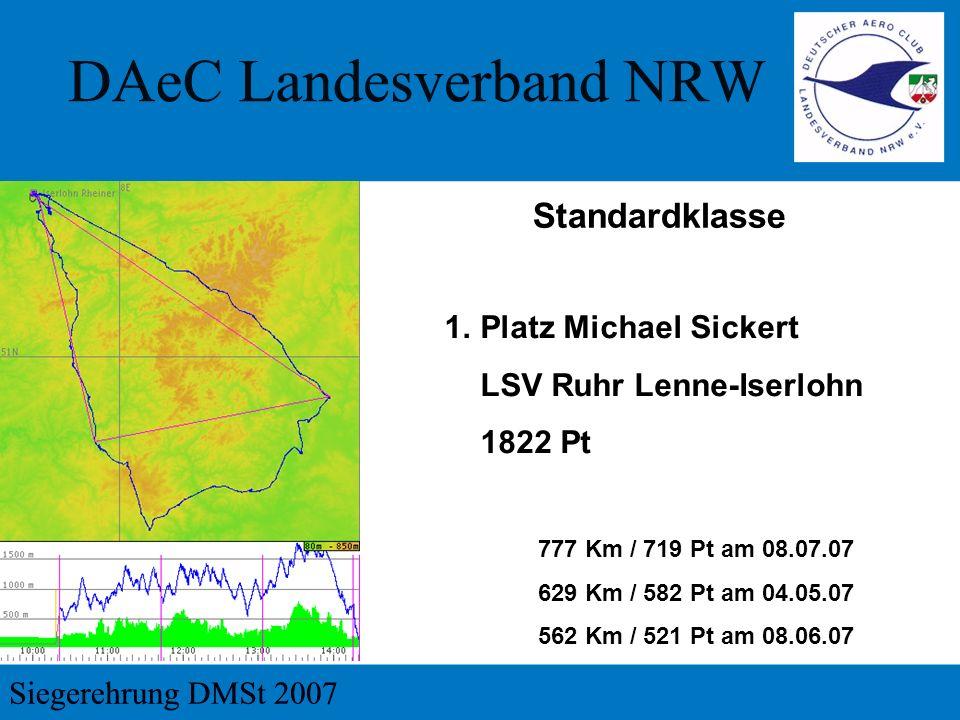Standardklasse Platz Michael Sickert LSV Ruhr Lenne-Iserlohn 1822 Pt